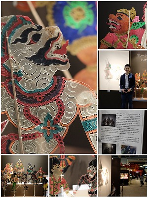 マレーシア「ワヤン・クリ」影絵人形展示